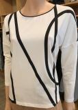 Shirt mit Frontdruck black&white